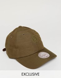 Mitchell And Ness Cap Adjustable Linen Exclusive To Asos Green