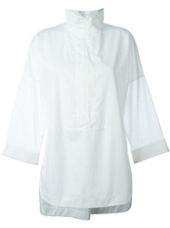 Akris Zipped Shirt White