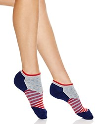 Happy Socks Dot And Stripe Low Cut Socks Blue Red