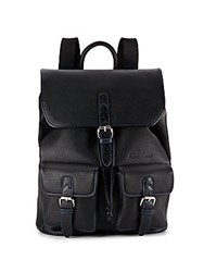 Robert Graham Johnson Faux Leather Backpack Black