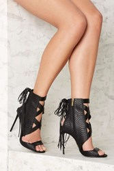 Nasty Gal Lust For Life Whip Leather Heel