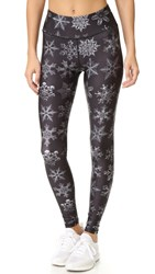 Terez Snow Flakes Tall Band Pants Multi