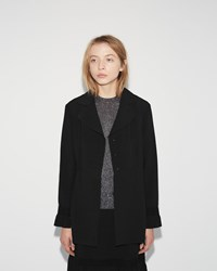 Sara Lanzi Stretch Crepe Jacket Black