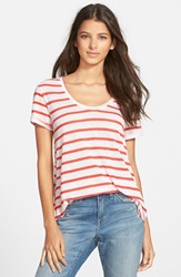 Stem A Line Tee Red Beauty Ginny Stripe
