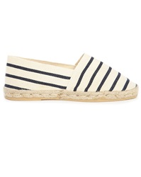 M.Studio Gil Ecru And Navy Striped Espadrilles