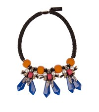 Max Mara Weekend Tirolo Resin Bead Necklace Female Blue
