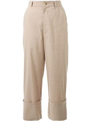 G.V.G.V. Cuffed Trousers Nude And Neutrals
