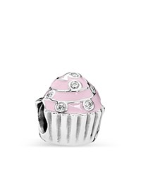 Pandora Design Pandora Charm Sterling Silver Enamel And Cubic Zirconia Sweet Cupcake Moments Collection