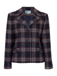 Dickins And Jones Boxy Check Wool Jacket