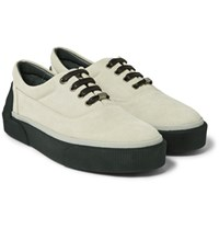 Lanvin Suede Sneakers Off White