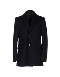 Royal Hem Coats Dark Blue