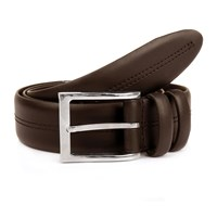 Dents Mens Double Stitched Leather Belt Brown