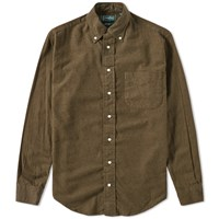Gitman Brothers Vintage Solid Brushed Flannel Shirt Green