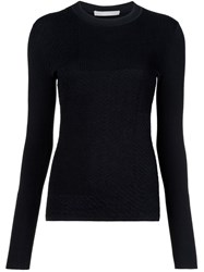 Jason Wu Ribbed Fine Knit Jumper Black