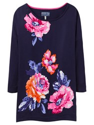 Joules Kitty Floral Print Jumper Navy