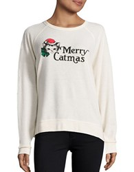 Project Social T Merry Catmas Sweatshirt Cream