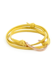 Miansai Fish Hook Bracelet Yellow And Orange