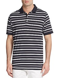 Callaway Regis Striped Polo Shirt Caviar