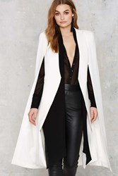 Nasty Gal Lavish Alice On The Fly Cape Jacket Black