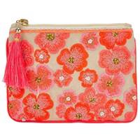 John Lewis Neon Flower Small Pouch Multi
