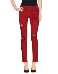 Kontatto Trousers Casual Trousers Women Brick Red