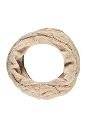 Forever 21 Plushy Cable Knit Infinity Scarf Dusty Pink