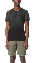 Splendid Mills Slub Treatment Pocket Tee Black