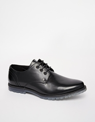 Firetrap Leather Derby Shoes Black