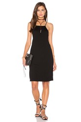 Lanston Lace Back Slip Dress Black