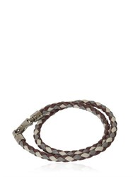 Tod's My Colors Braided Leather Bracelet