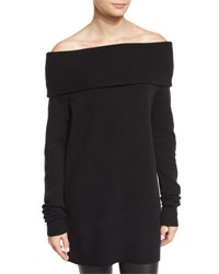 Alexander Wang Knit Off The Shoulder Sweater Black