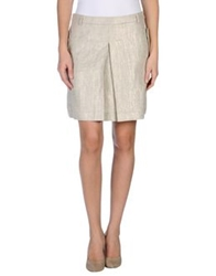 Gianfranco Ferre Gf Ferre' Knee Length Skirts Beige