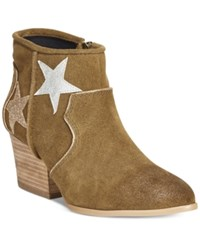 Dolce By Mojo Moxy Tracery Western Booties Women's Shoes Army
