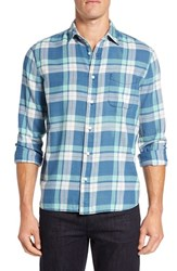 Faherty Men's 'Ventura' Trim Fit Washed Plaid Sport Shirt