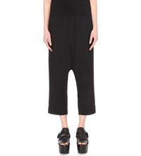 Rick Owens Cropped Crepe Trousers Black