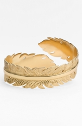 Melinda Maria Feather Cuff Gold