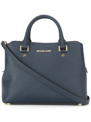 Michael Michael Kors Medium 'Savannah' Tote Blue