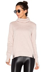 Alo Yoga Haze Long Sleeve Sweatshirt Taupe