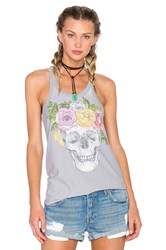 Chaser Flower Crown Tank Gray