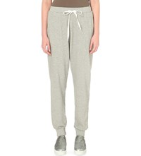 Clu Elasticated Cotton And Silk Blend Jogging Bottoms Heather Grey