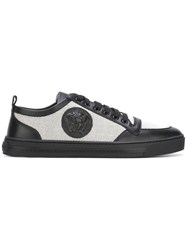 Versace Medusa Low Top Canvas Sneakers Black