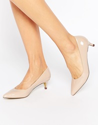 Truffle Collection Olive Mid Heeled Court Shoes Nudepatent