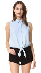 Rails Shea Sleeveless Button Down Shirt Light Vintage Wash