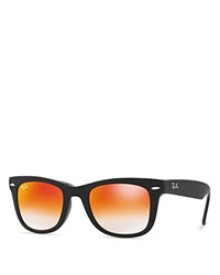 Ray Ban Rb4105 Folding Wayfarer Sunglasses 50Mm Red Gradient