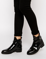 Whistles Hana Heavy Sole Ankle Boots Black