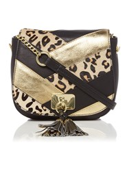 Biba Ash Saddle Handbag Black Gold