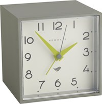 Cb2 Newgate A Cubic Grey And White Alarm Table Clock