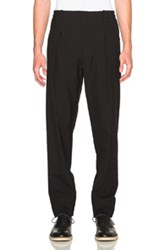 Christophe Lemaire Lemaire Lightweight Virgin Wool Elasticated Pants In Black