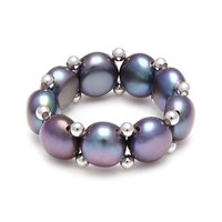 Kyoto Pearl Stretch Ring Black