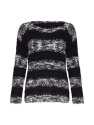 Mela Loves London Textured Stripe Jumper Black